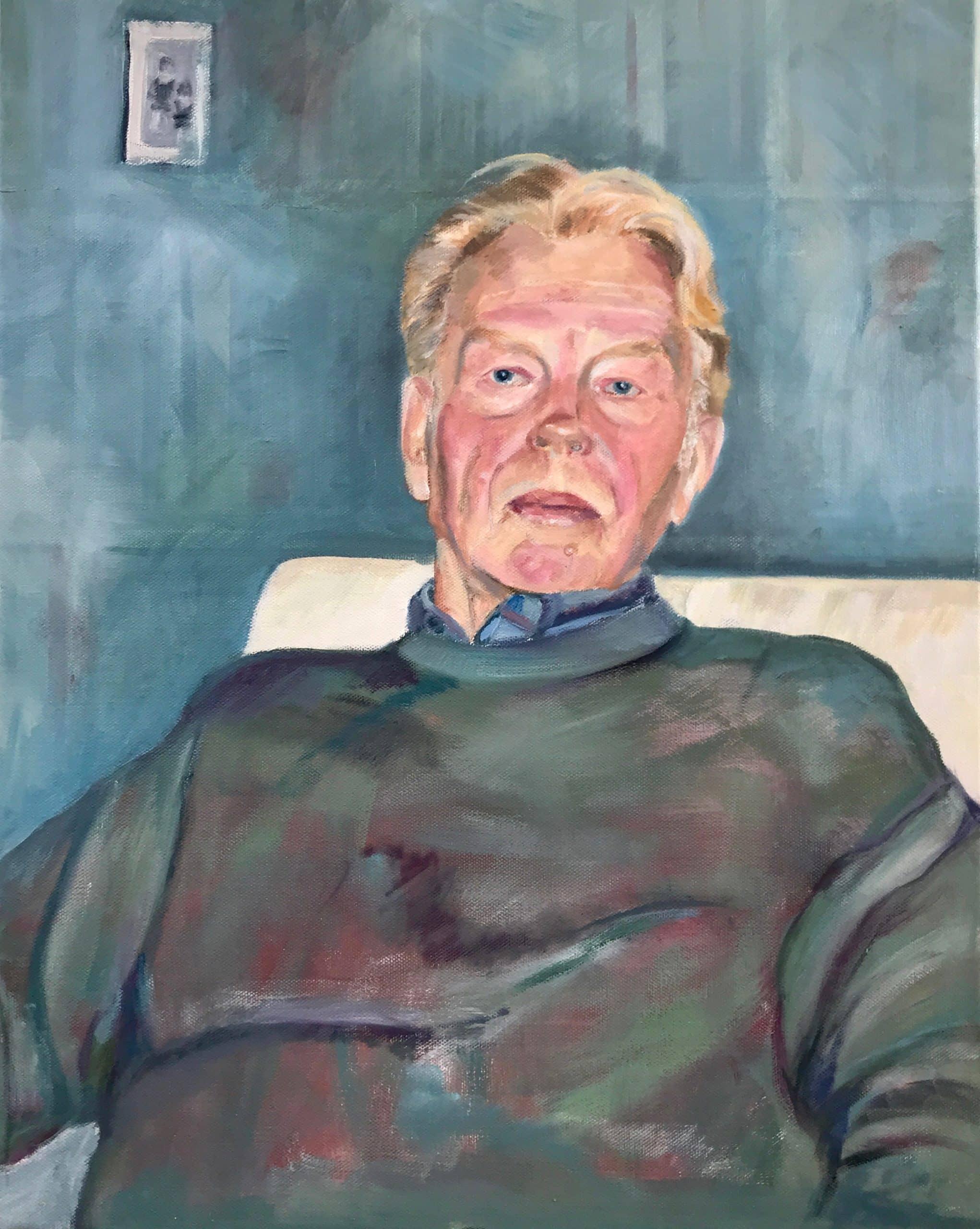 Helmut, 40x50cm, 2020, Ölmalerei
