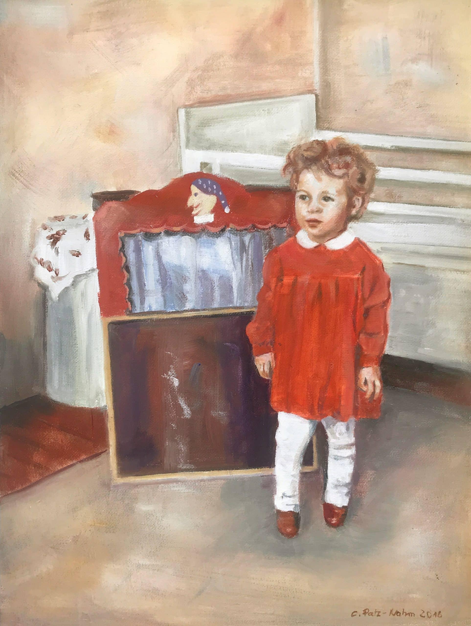 Kleines Mädchen, 30x40cm, Ölmalerei