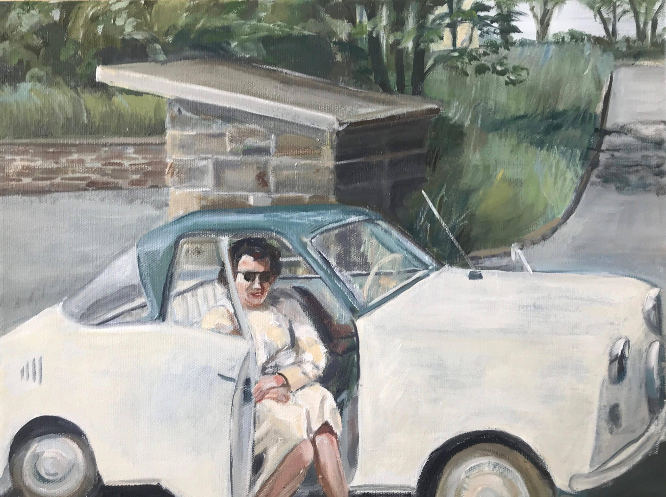 Wochenend und Sonnenschein, 24x30cm, Ölmalerei