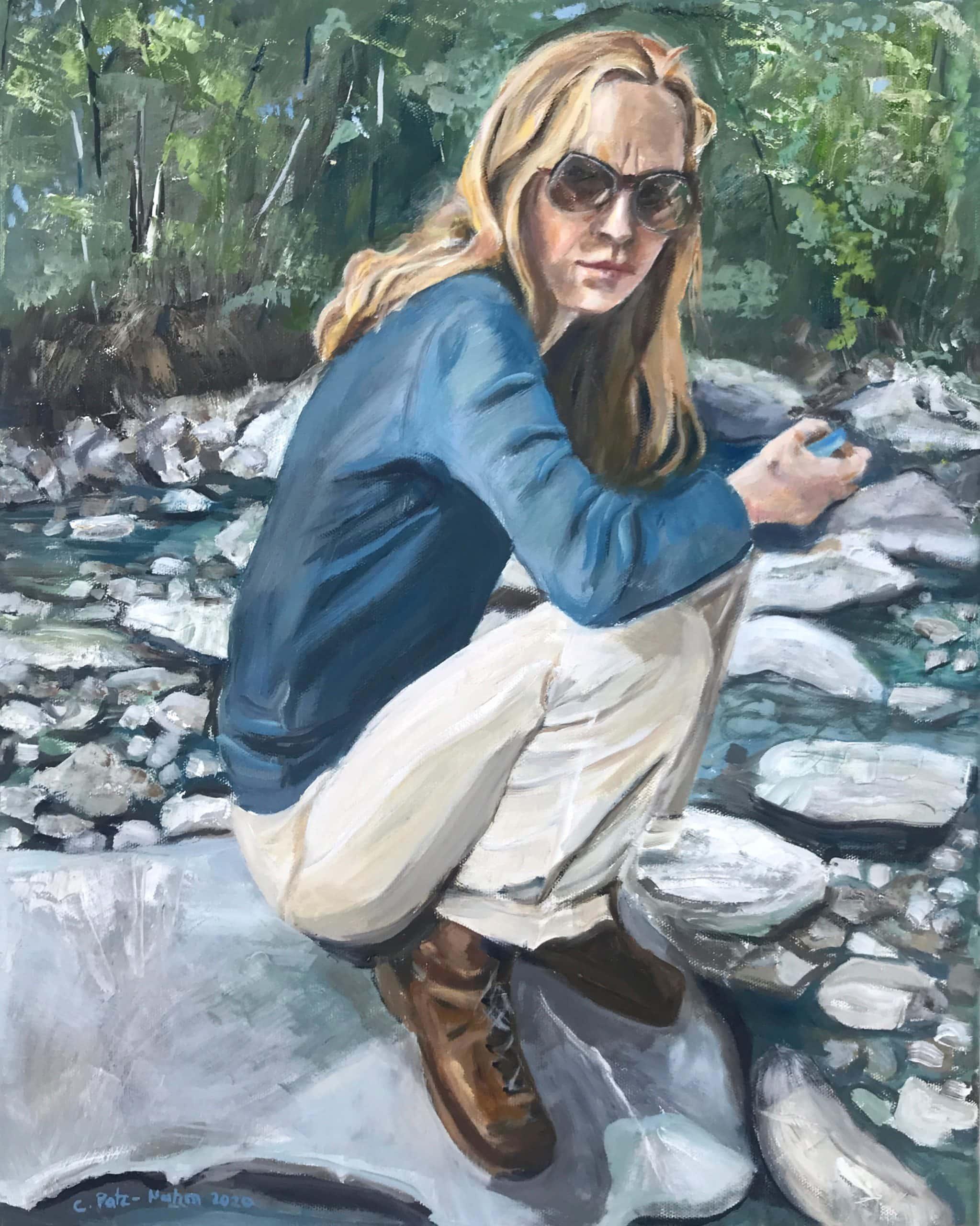 Zwischen den Steinen, 40x50cm, 2020, Ölmalerei